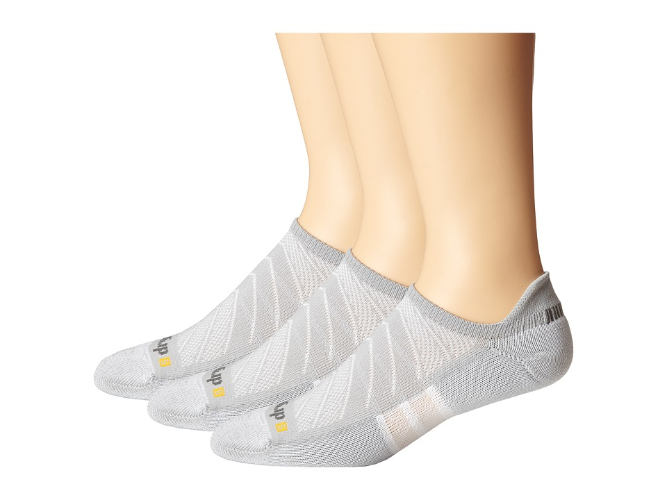 Drymax Sport - Max Cushion Run-Packaged No Show Tab 3-Pair Pack (Gray) No Show Socks Shoes
