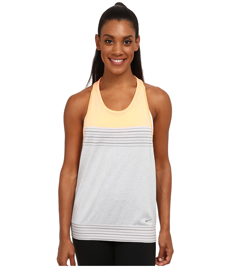 Nike - Dri-FIT Knit Loose Tank Top (Wolf Grey/Sunset Glow/Cool Grey/Cool Grey) Women's Sleeveless