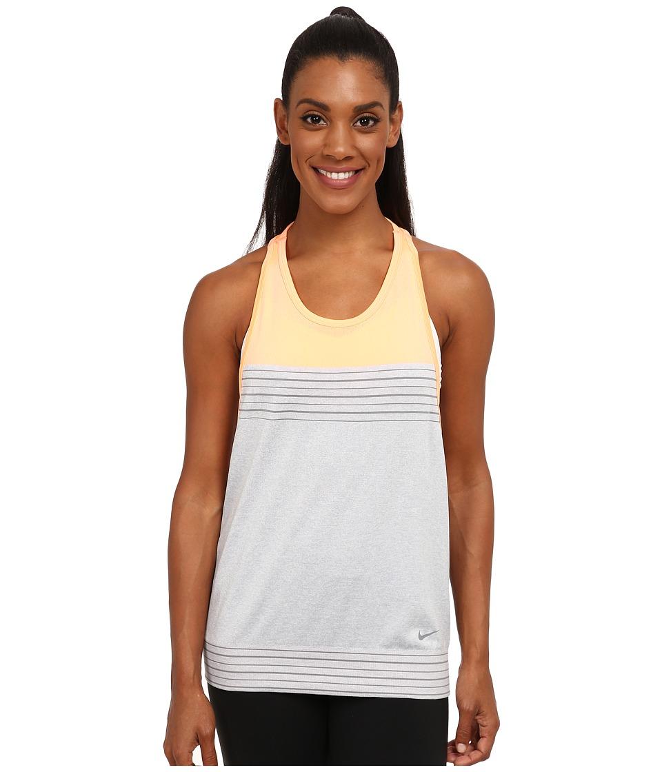 Nike - Dri-FIT Knit Loose Tank Top (Wolf Grey/Sunset Glow/Cool Grey/Cool Grey) Women's Sleeveless