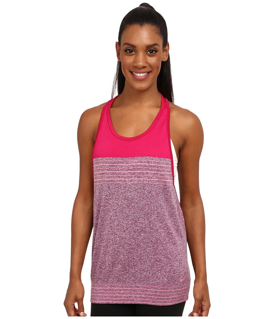 Nike - Dri-FIT Knit Loose Tank Top (Mulberry/Sport Fuchsia/Pink Glow/Pink Glow) Women's Sleeveless