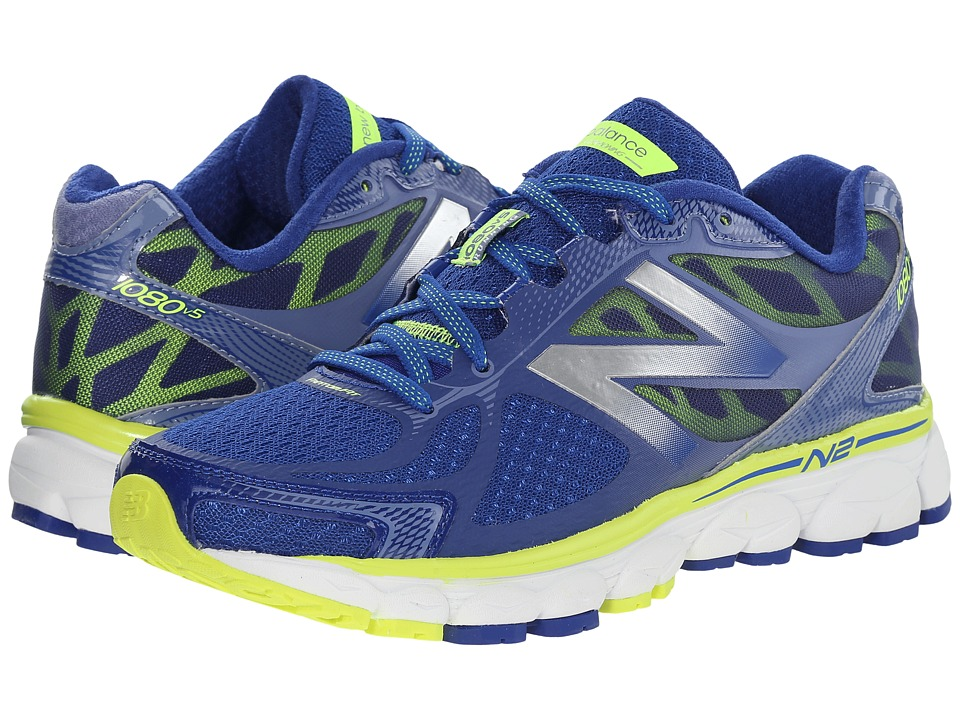New Balance - W1080v5 (Blue/Yellow) Women's Running Shoes