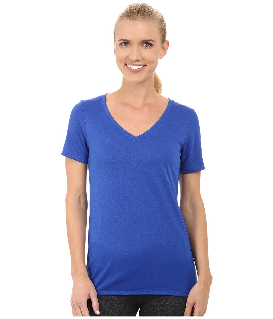 Nike - V-Neck Legend Short-Sleeve Tee 2.0 (Game Royal/Game Royal) Women