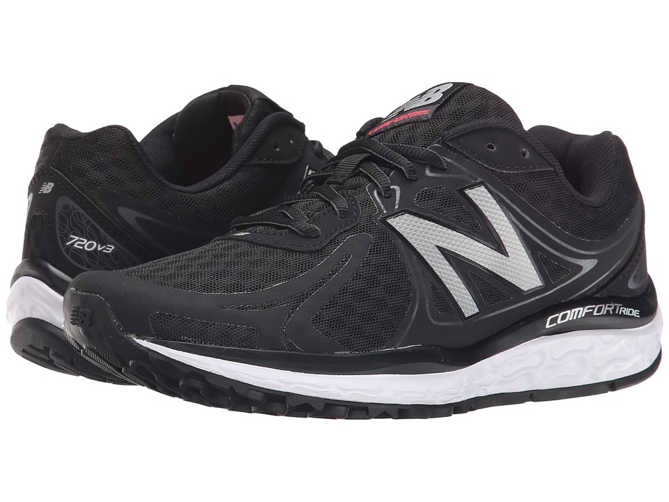 New Balance - W720v3 (Black/Grey/Silver) Women's Running Shoes