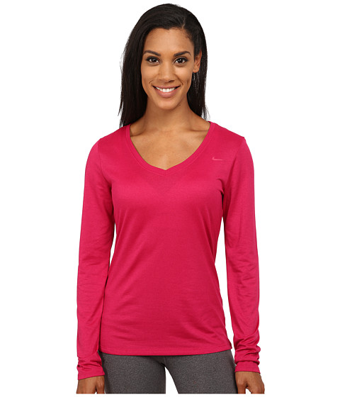 Nike - Legend Long Sleeve Top 2.0 (Sport Fuchsia/Sport Fuchsia) Women's Long Sleeve Pullover