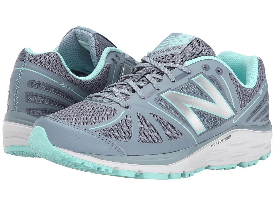 New Balance - W770v5 (Grey/Blue) Women's Running Shoes