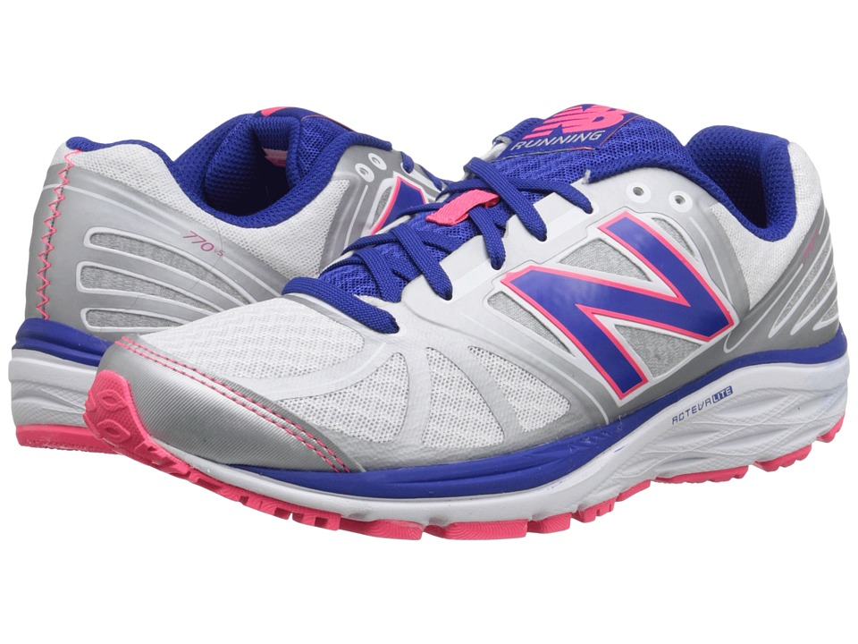 New Balance - W770v5 (White/Blue) Women's Running Shoes