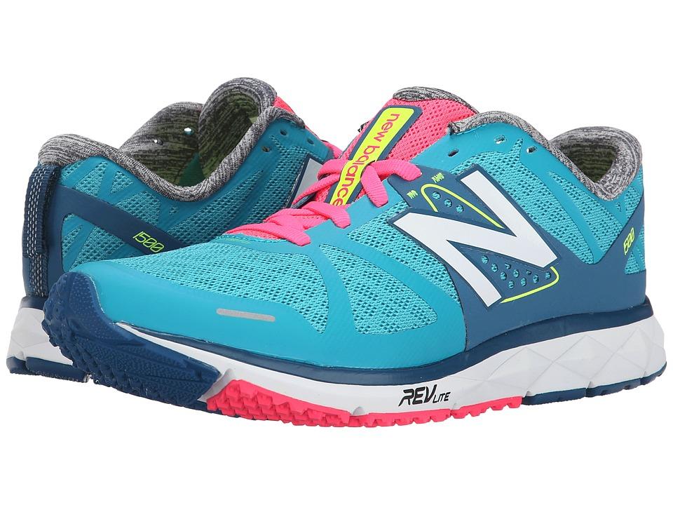 New Balance - W1500v1 (Blue/Pink) Women's Running Shoes