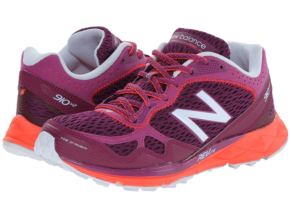 New Balance - WT910v2 (Purple/Orange) Women's Running Shoes