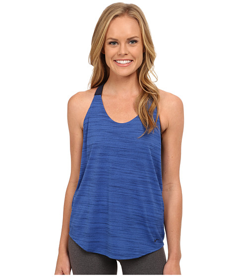 Nike - Dri-FIT Elastika Heathered Tank Top (Game Royal/Obsidian/Obsidian) Women