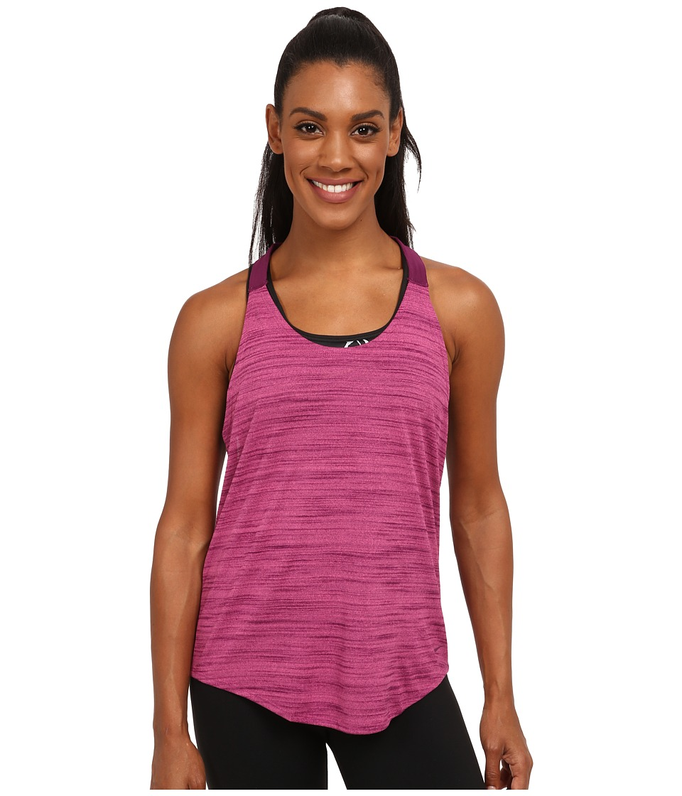 Nike - Dri-FIT Elastika Heathered Tank Top (Vivid Pink/Mulberry/Mulberry) Women