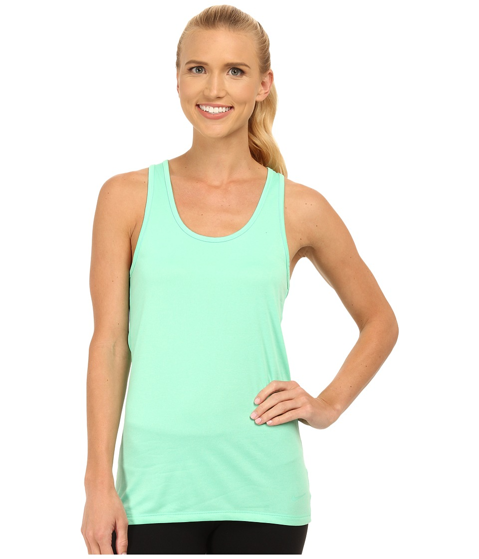 Nike - Dri-FIT Balance Tank Top (Green Glow/Green Glow) Women's Sleeveless