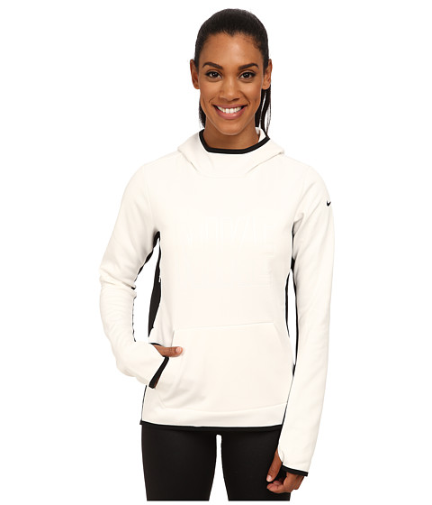 Nike - All Time Tech Graphic Hoodie (Ivory/Black/Black) Women