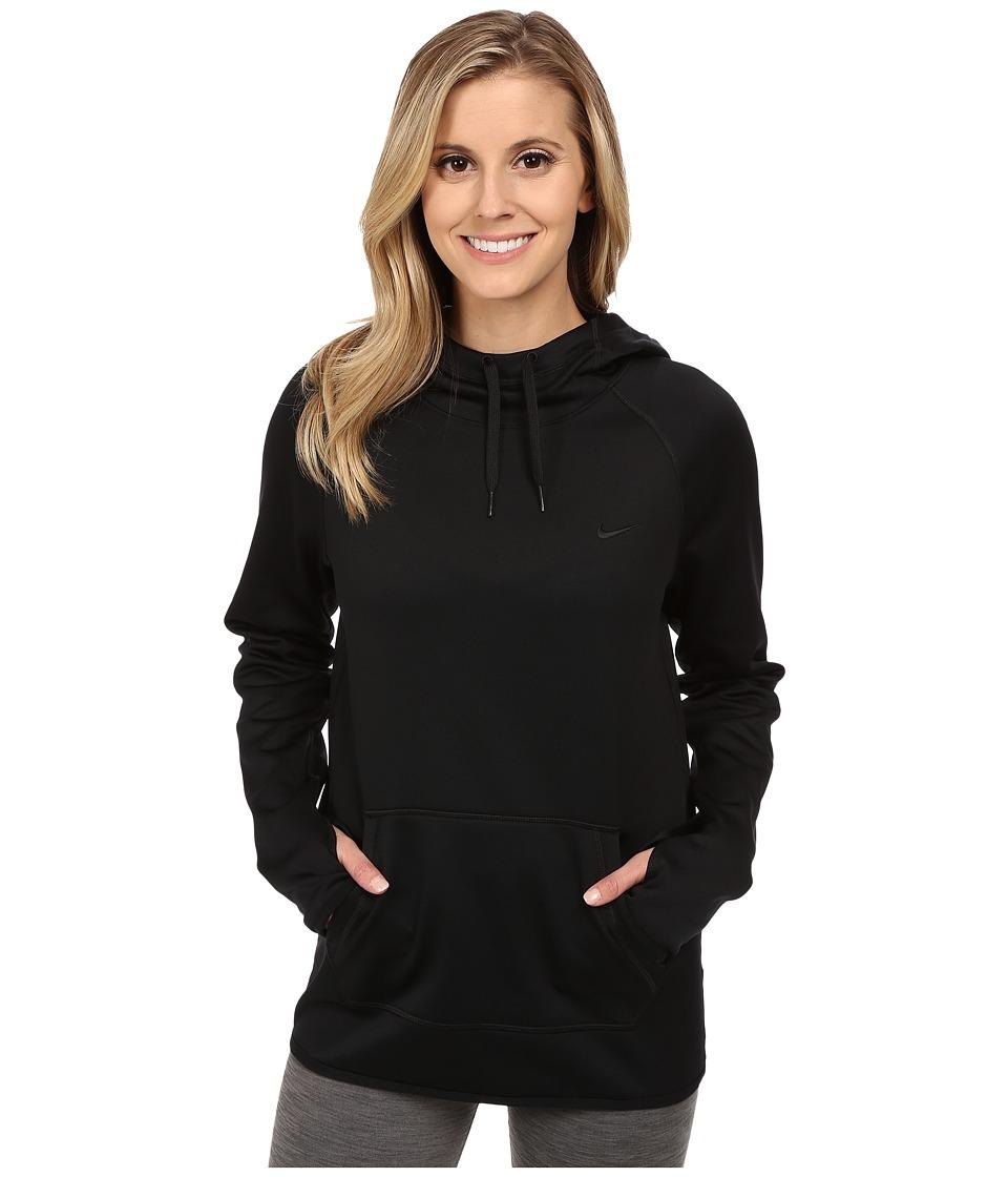 Nike - All-Time Pullover Training Hoodie (Black/Black/Black) Women's Clothing