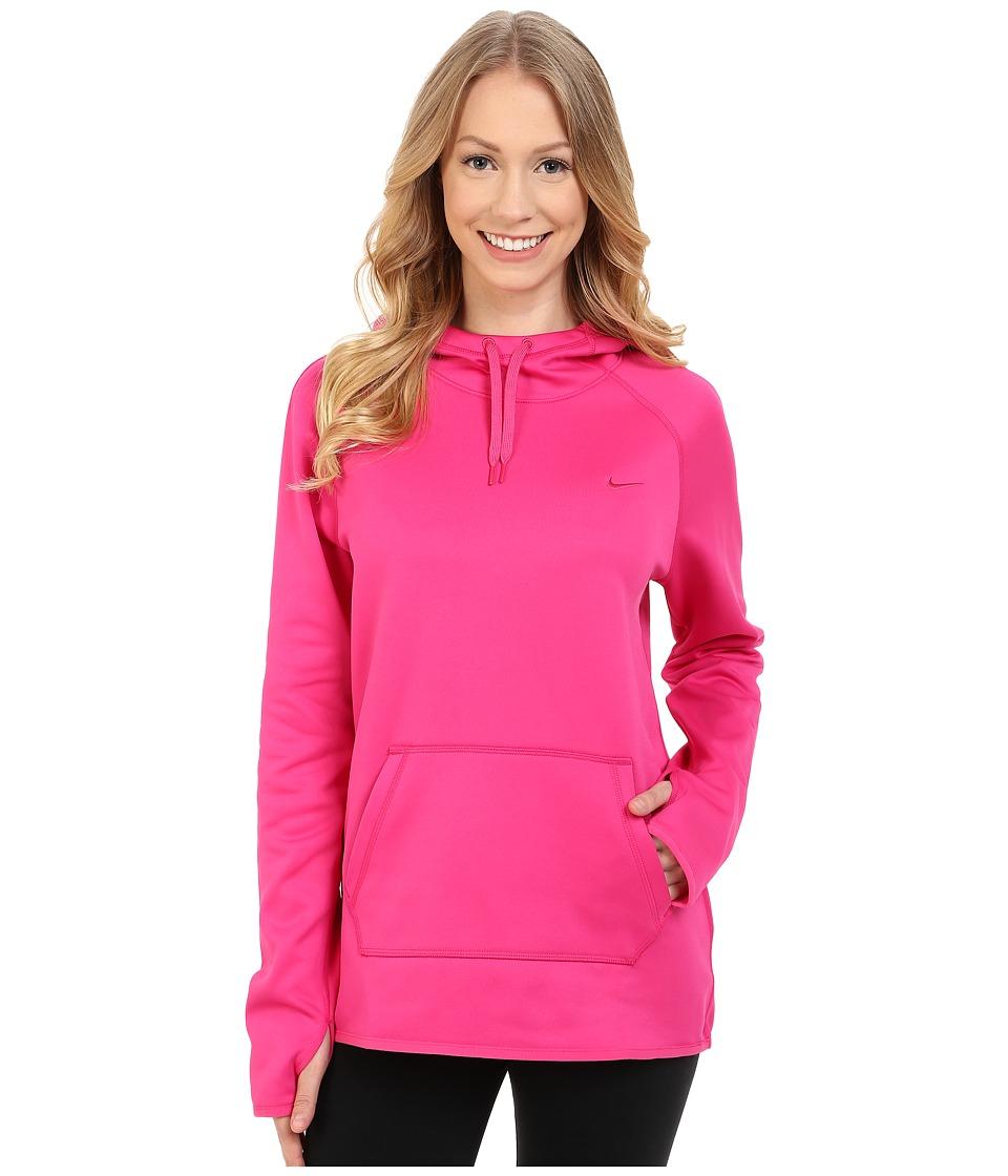 Nike - All Time Pullover Hoodie (Vivid Pink/Vivid Pink/Vivid Pink) Women's Long Sleeve Pullover