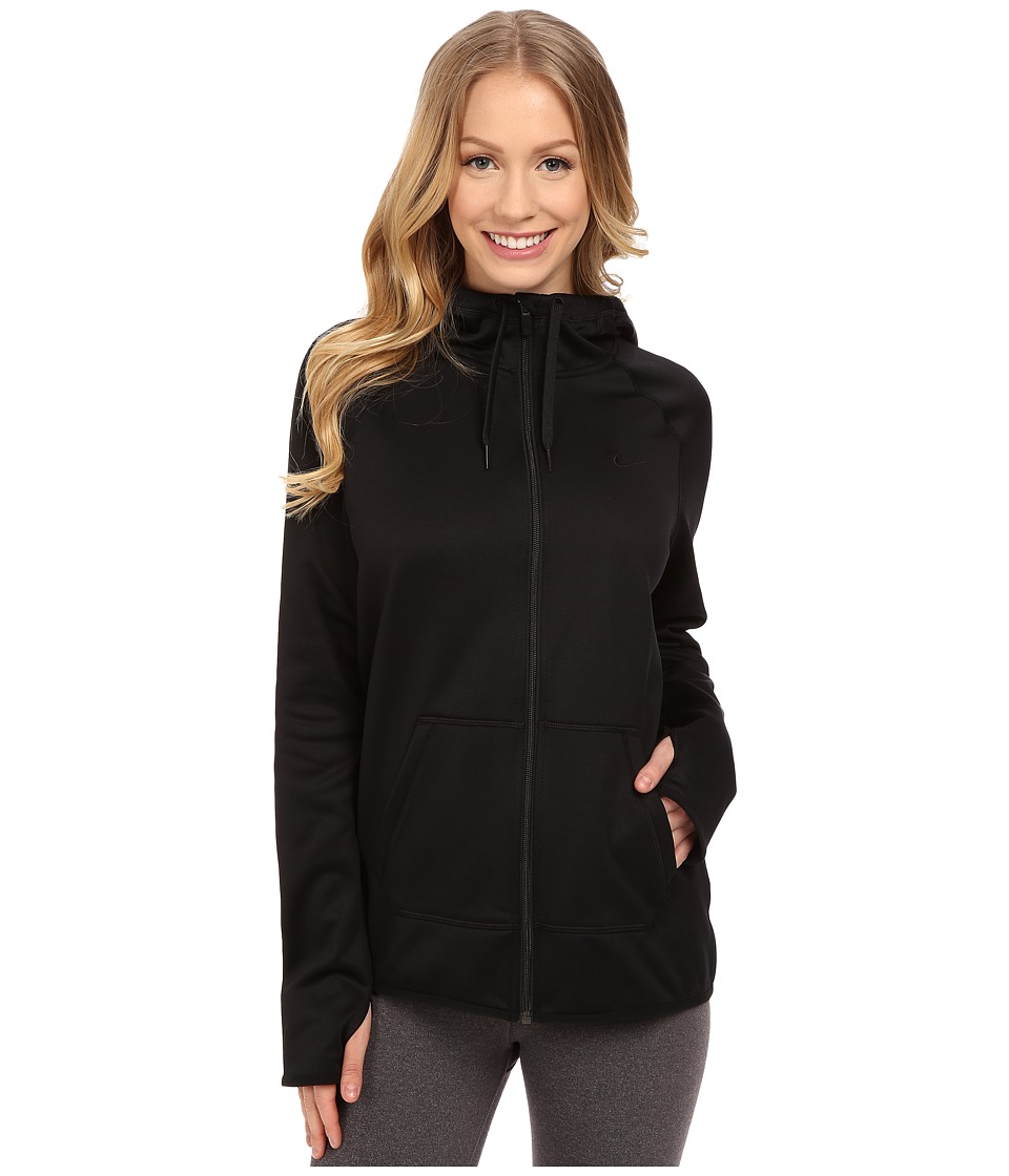 Nike - All Time Full Zip Hoodie (Black/Black/Black) Women's Sweatshirt