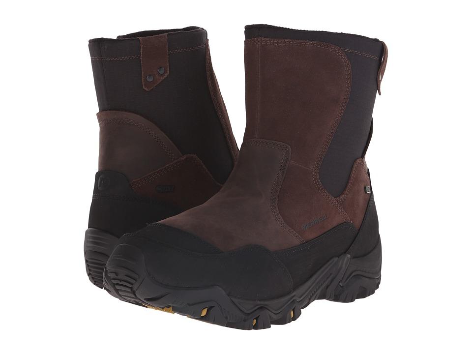 Merrell - Polarand Rove Zip Waterproof (Espresso) Men's Lace-up Boots