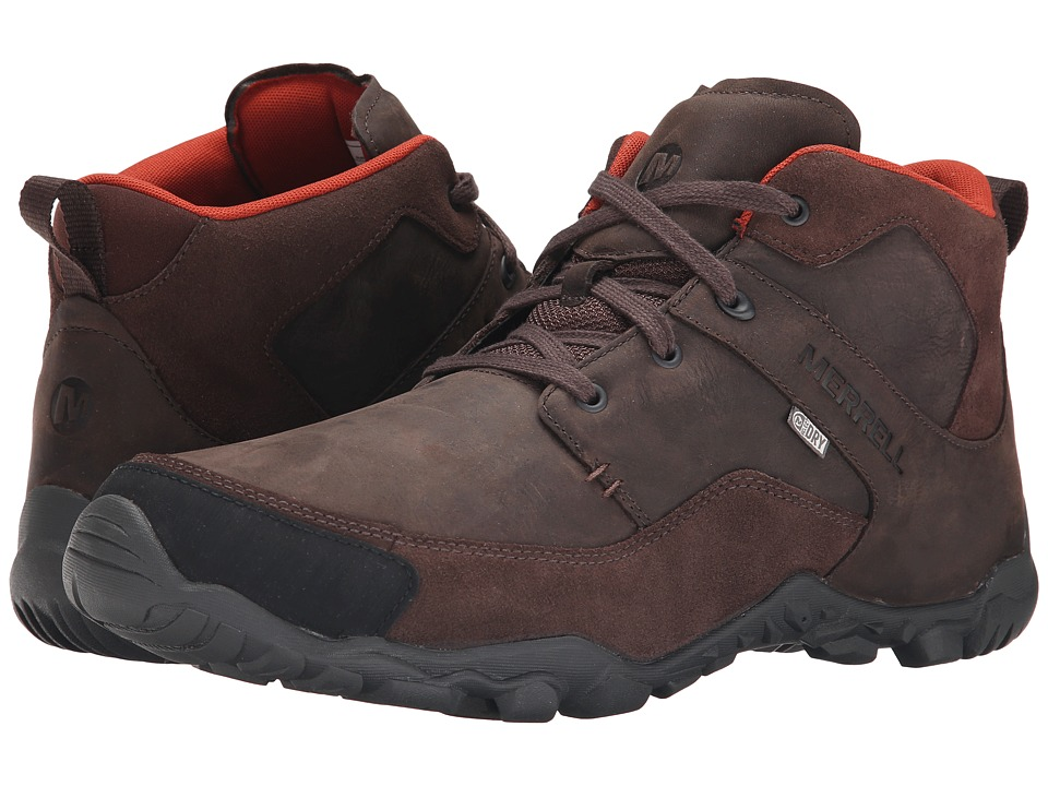 Merrell - Telluride Mid Waterproof (Espresso) Men's Waterproof Boots