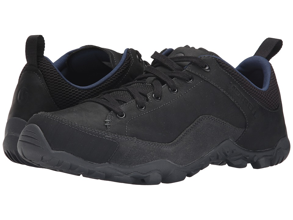 Merrell - Telluride Lace (Black) Men's Lace up casual Shoes