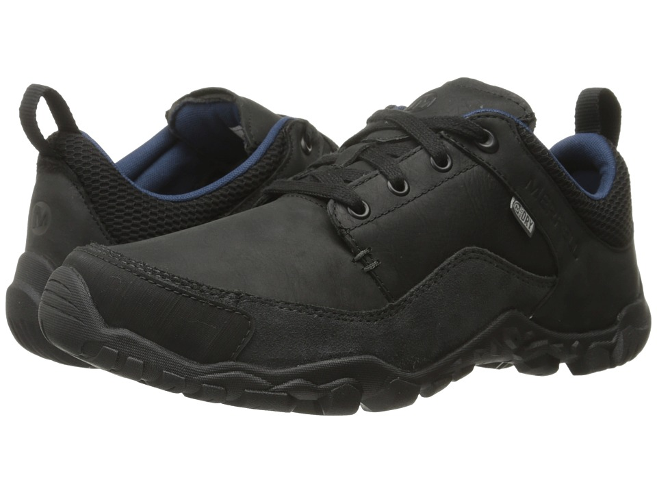 Merrell - Telluride Waterproof (Black) Men's Lace up casual Shoes