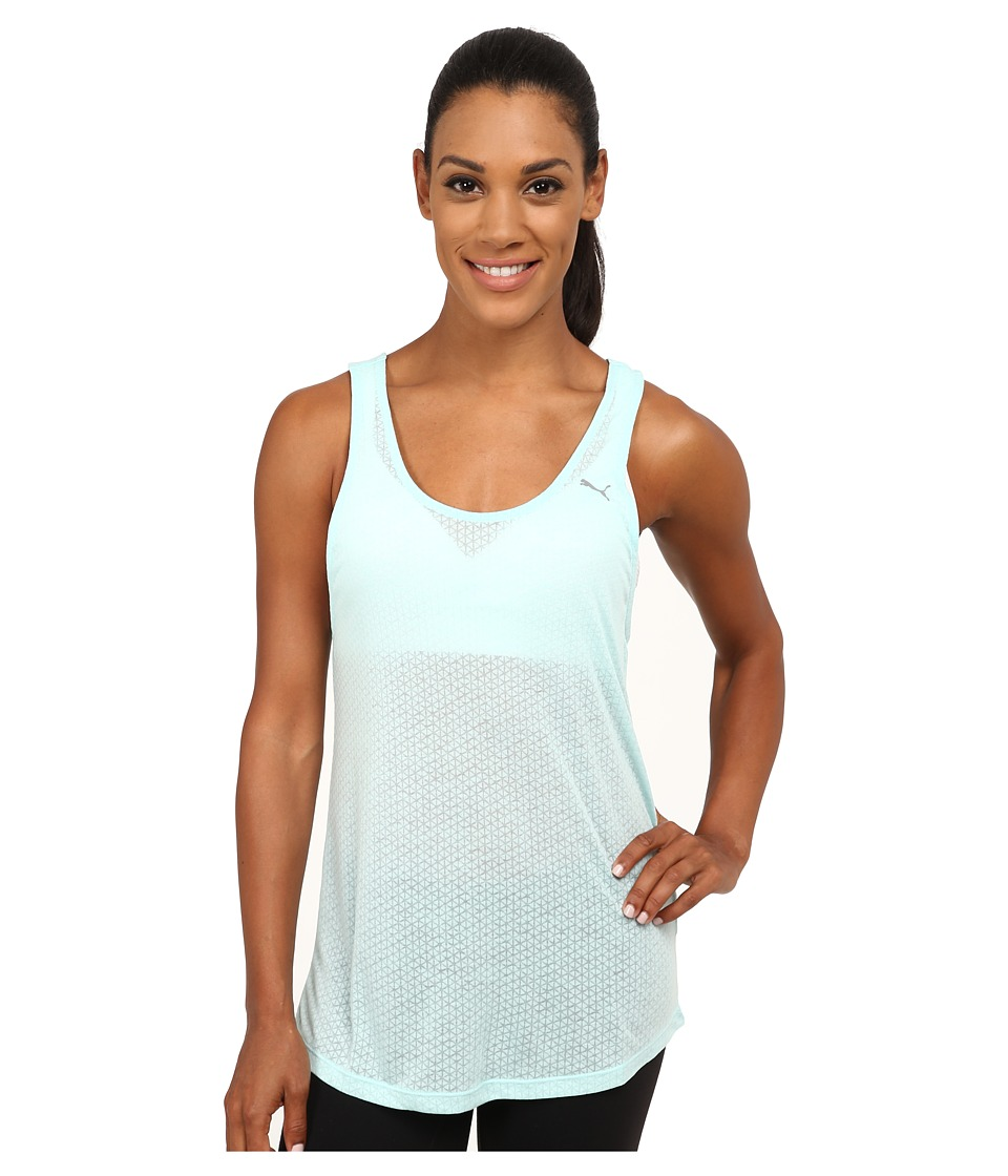 PUMA - ST Burnout Layer Tank Top (Clearwater) Women