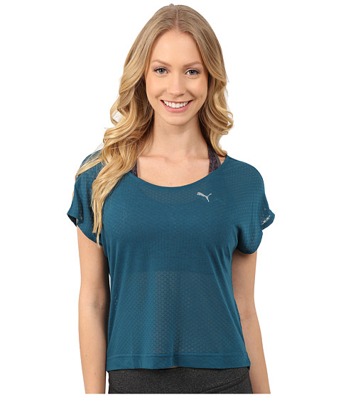 PUMA - ST Watch Me Leave Tee (Blue Coral) Women
