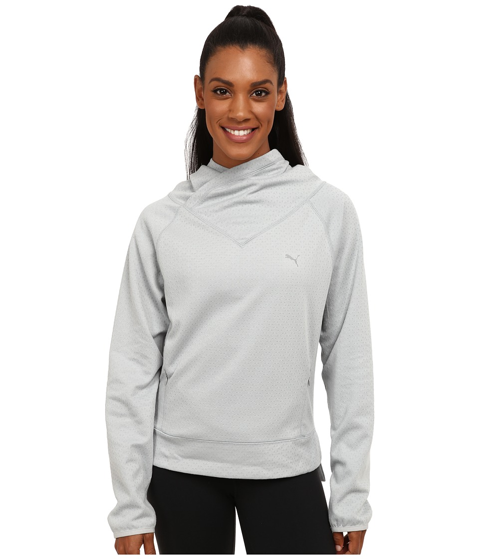 PUMA - ST Yogini Cover Up (Quarry) Women's Short Sleeve Pullover