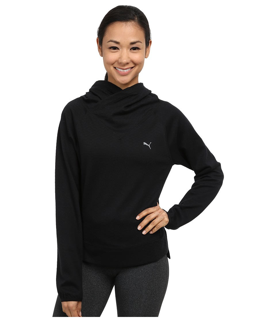 PUMA - ST Yogini Cover Up (Black) Women's Short Sleeve Pullover