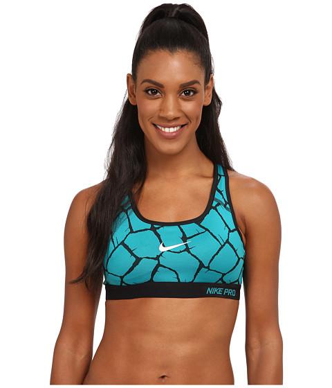 Nike - Dri-FIT Pro Classic Padded Giraffe Bra (Radiant Emerald/Black/Black/White) Women