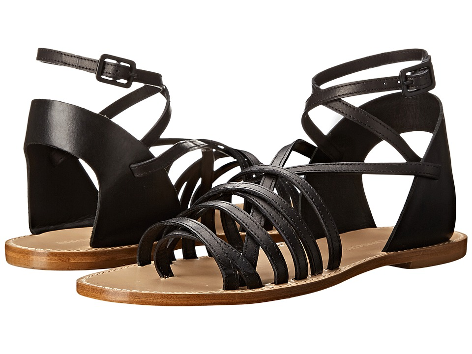 Band of Outsiders Low Strappy Sandal Black Womens Sandals