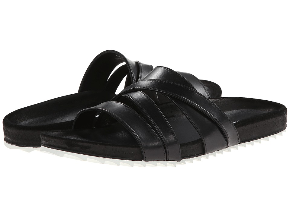 Band of Outsiders - Strappy Shower Slide (Black) Women