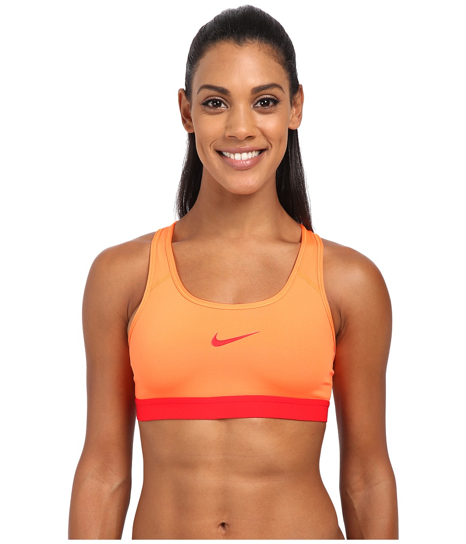 Nike - Pro Bra (Bright Citrus/Light Crimson/Light Crimson) Women