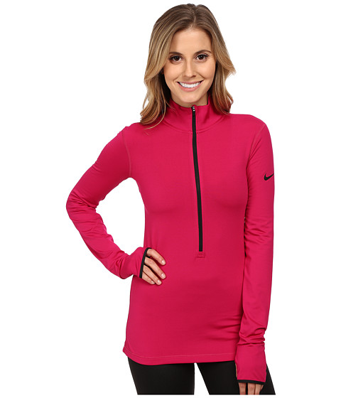 Nike - Pro Hyperwarm 1/2 Zip 3.0 (Sport Fuchsia/Black/Black) Women's Workout
