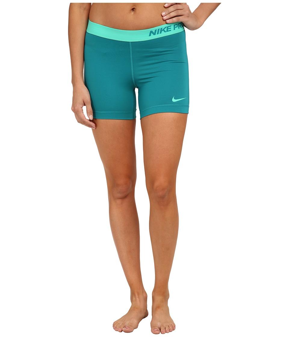 Nike - Pro Five-Inch Short (Radiant Emerald/Emerald Glow/Emerald Glow) Women's Shorts