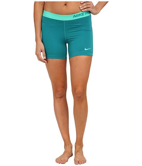 Nike - Pro Five-Inch Short (Radiant Emerald/Emerald Glow/Emerald Glow) Women