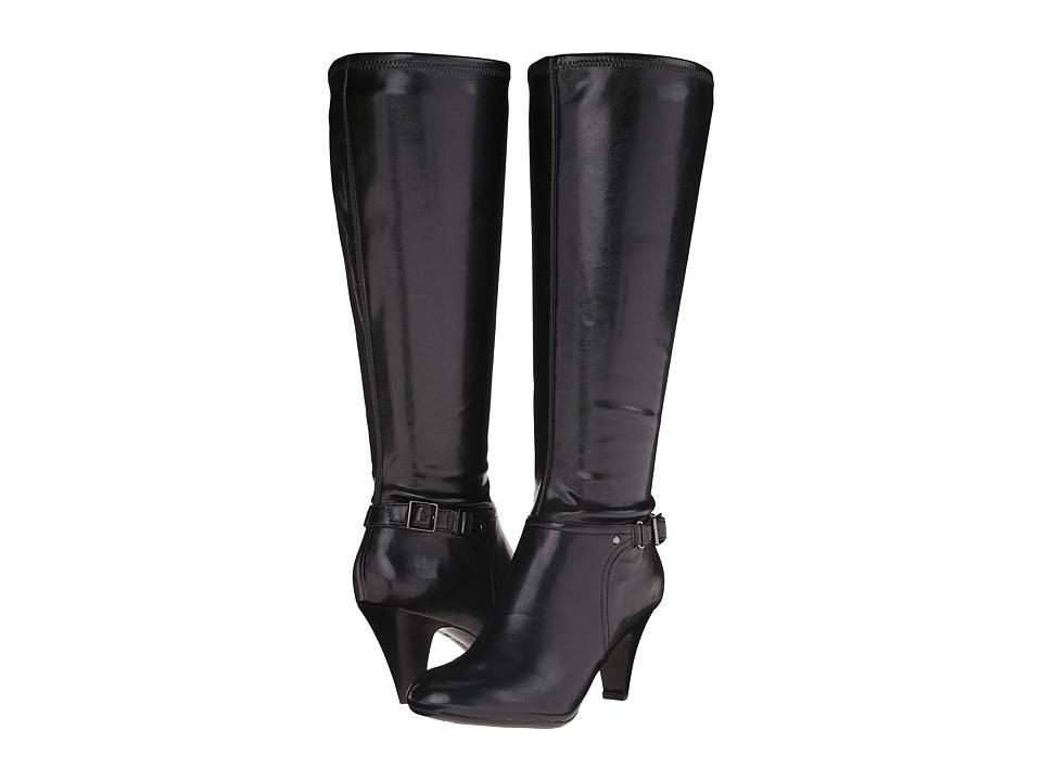 Naturalizer - Britta Wide Calf (Black Smooth) Women's Wide Shaft Boots