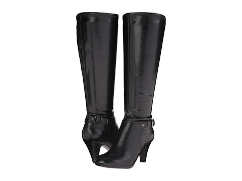 Naturalizer - Britta Wide Calf (Black Smooth) Women