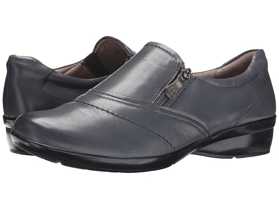 Naturalizer - Clarissa (Graphite Lead Leather) Women's Flat Shoes