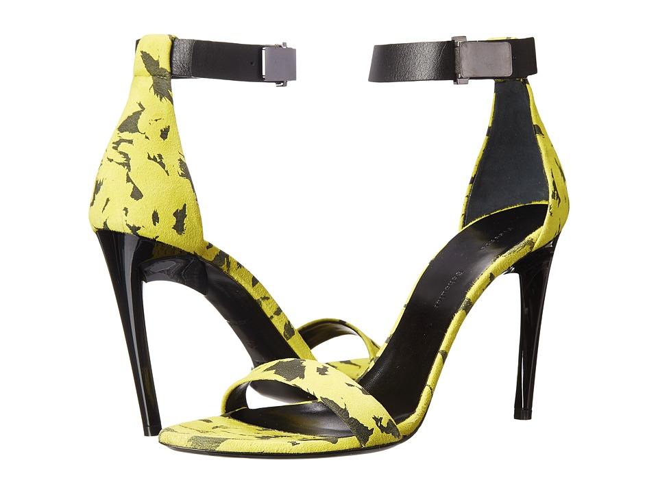 Proenza Schouler - Feather Ankle Strap Heeled Sandal (Feather Print) Women's Dress Sandals