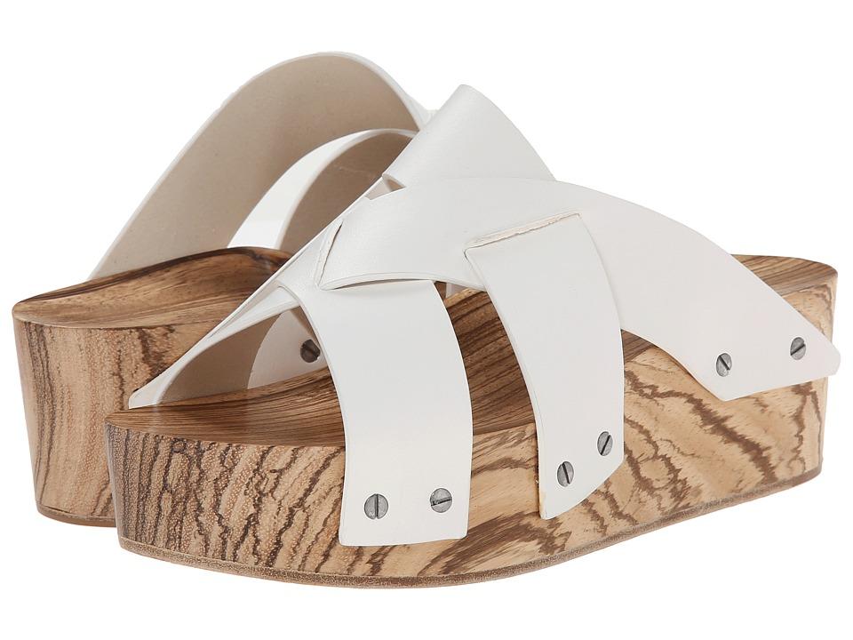 Proenza Schouler Studded Flatform Sandal (White) Women
