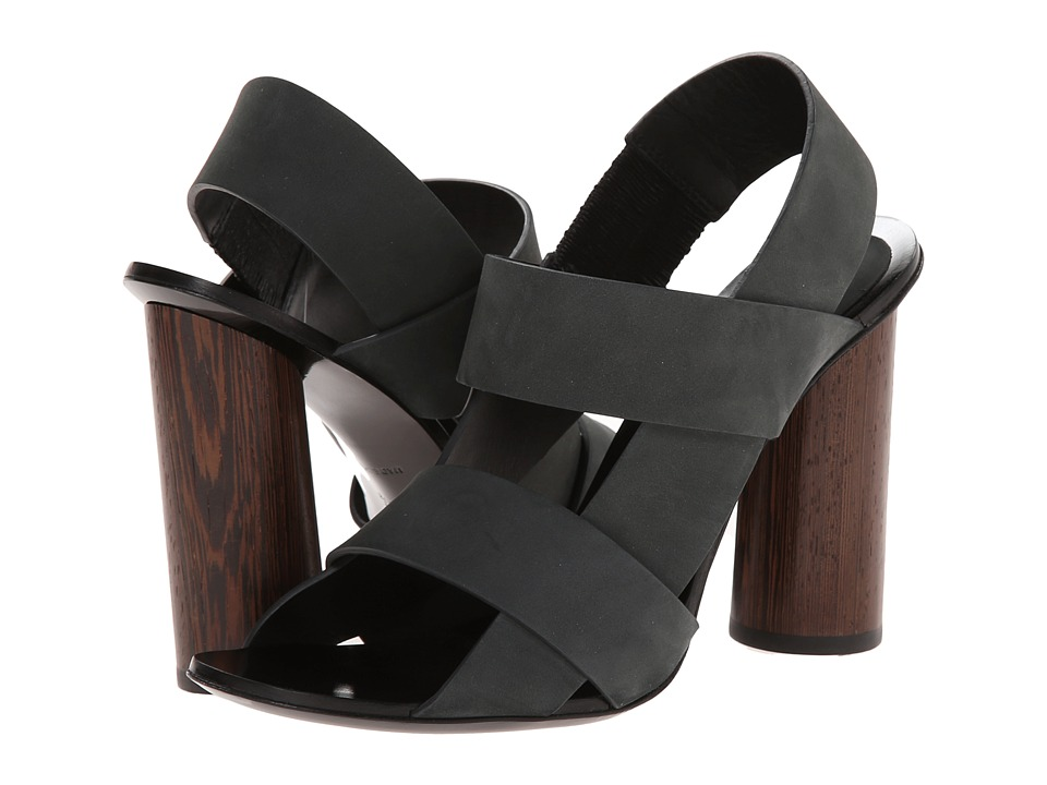 Proenza Schouler - Cross Strap Heeled Sandal (Black) Women's Dress Sandals