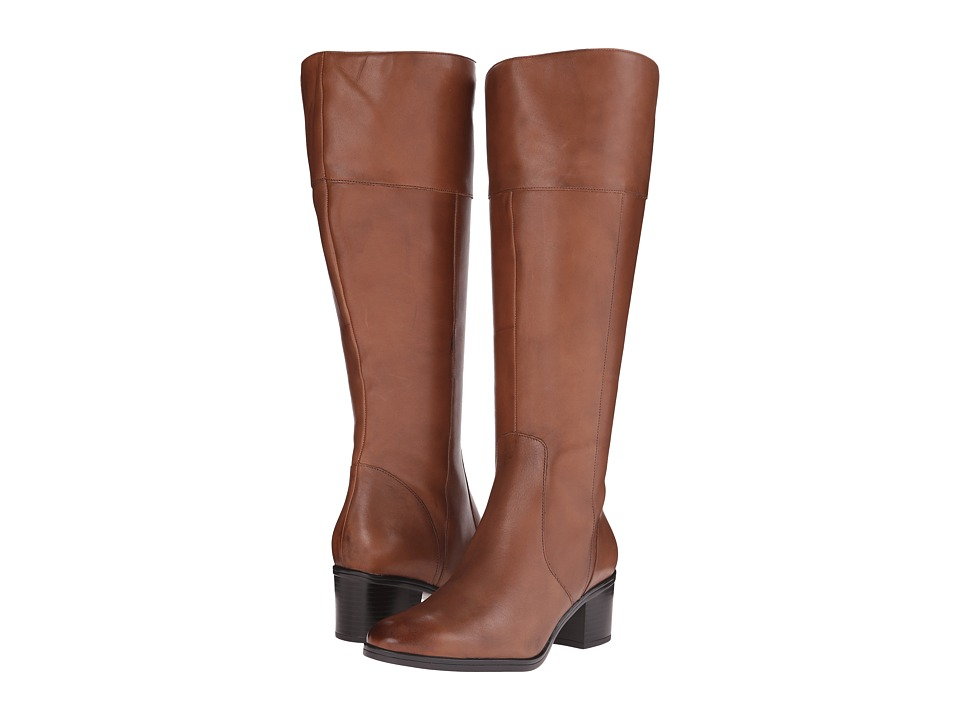 Naturalizer - Harbor Wide Calf (Banana Bread Leather) Women's Wide Shaft Boots