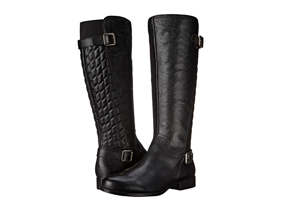 Naturalizer - Jalyn (Black Pebbled Leather) Women's Boots