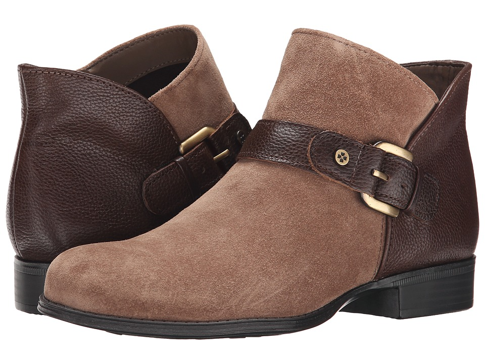 Naturalizer Jarrett (Truffle Taupe Suede/Brown Leather) Women