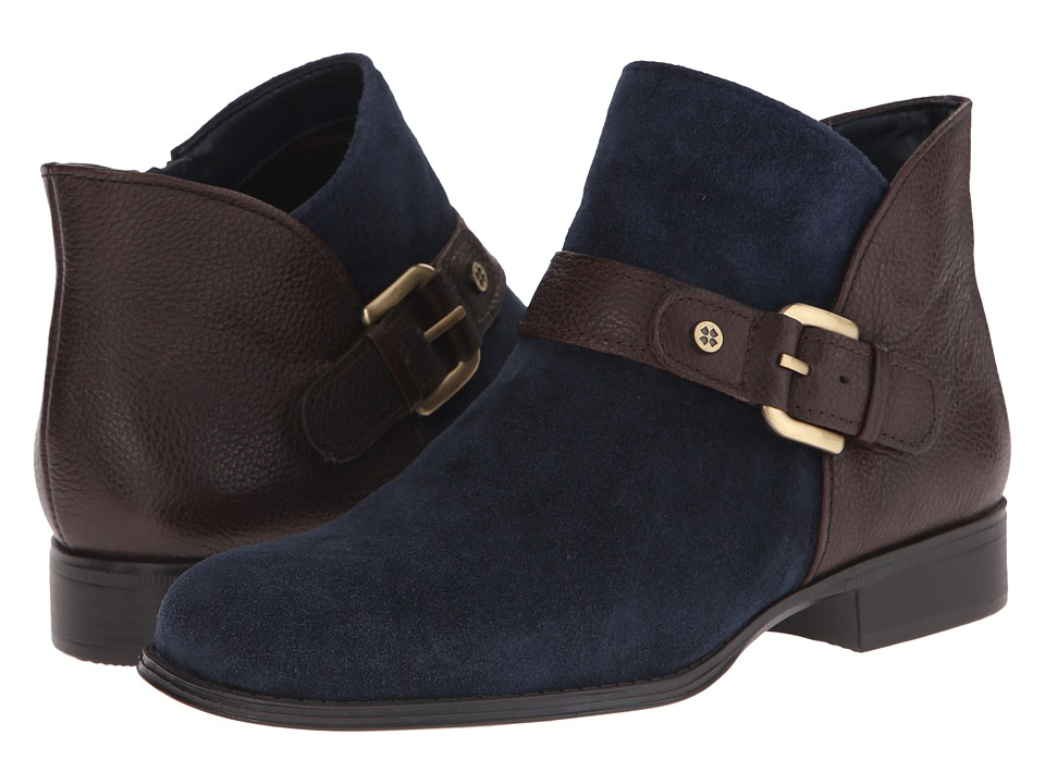 Naturalizer - Jarrett (Classic Navy Suede/Brown Leather) Women's Boots