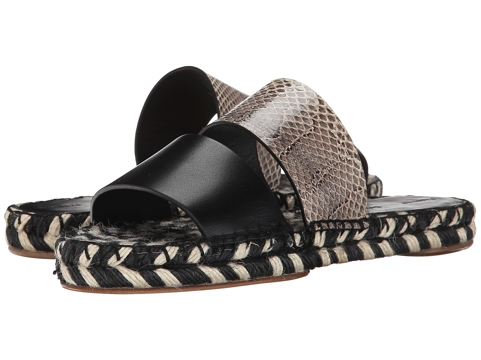Proenza Schouler - Pattern Block Flat Slide (Black Ayers) Women's Slide Shoes plus size,  plus size fashion plus size appare