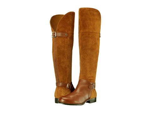Naturalizer - July (Dark Camel Suede/Banana Bread Leather) Women's Boots