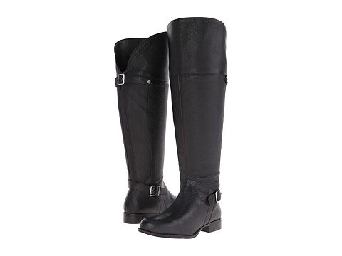 Naturalizer - July Wide Calf (Black Leather) Women's Wide Shaft Boots
