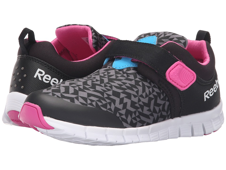 Reebok Kids - Z Fly (Little Kid) (Black/Shark/California Blue/Charged Pink) Boys Shoes