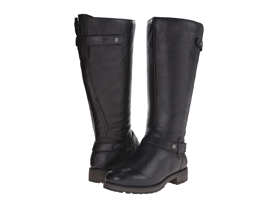 Naturalizer - Tanita Wide Calf (Black Leather) Women's Wide Shaft Boots