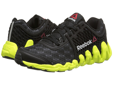 Reebok Kids - ZigTech Big N Fast EX (Little Kid) (Black/Solar Yellow) Boys Shoes